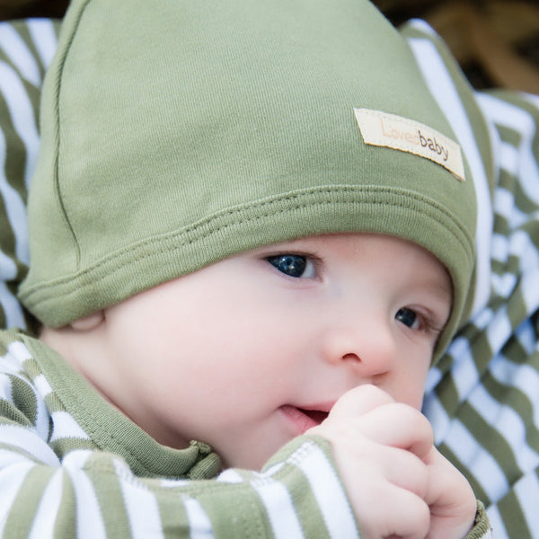 L'oved Baby Organic Matching Beanie / Sage - Dear Isla