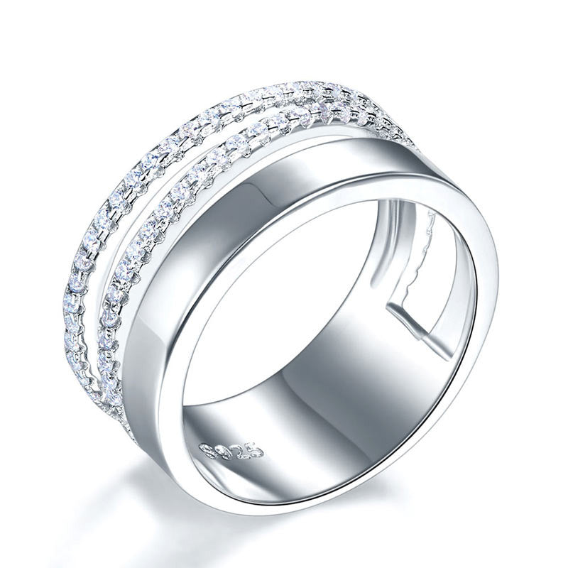 New Style Design 925 Sterling Silver Wedding Band Ring