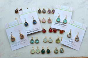 Bridesmaid Earrings - Choose Color & Card