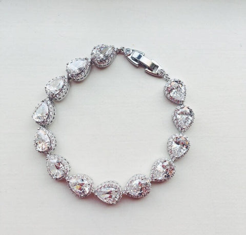 Preorder Silver Crystal Bracelet - As seen on Instagram Crystal Jewelry Wedding Jewelry