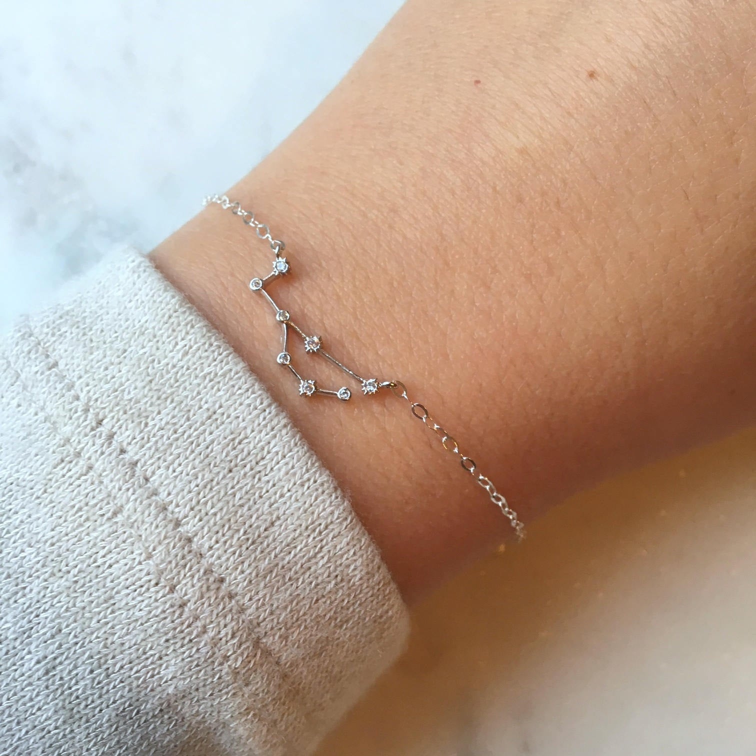 Silver Zodiac Bracelet - Choose Sign