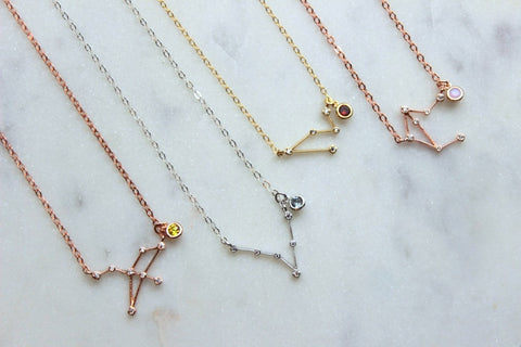Zodiac Necklace, Zodiac Jewelry, Birthstone Necklace, Horoscope, Personalized Places, Mindfulness Gift, Best Selling Items, Constellation