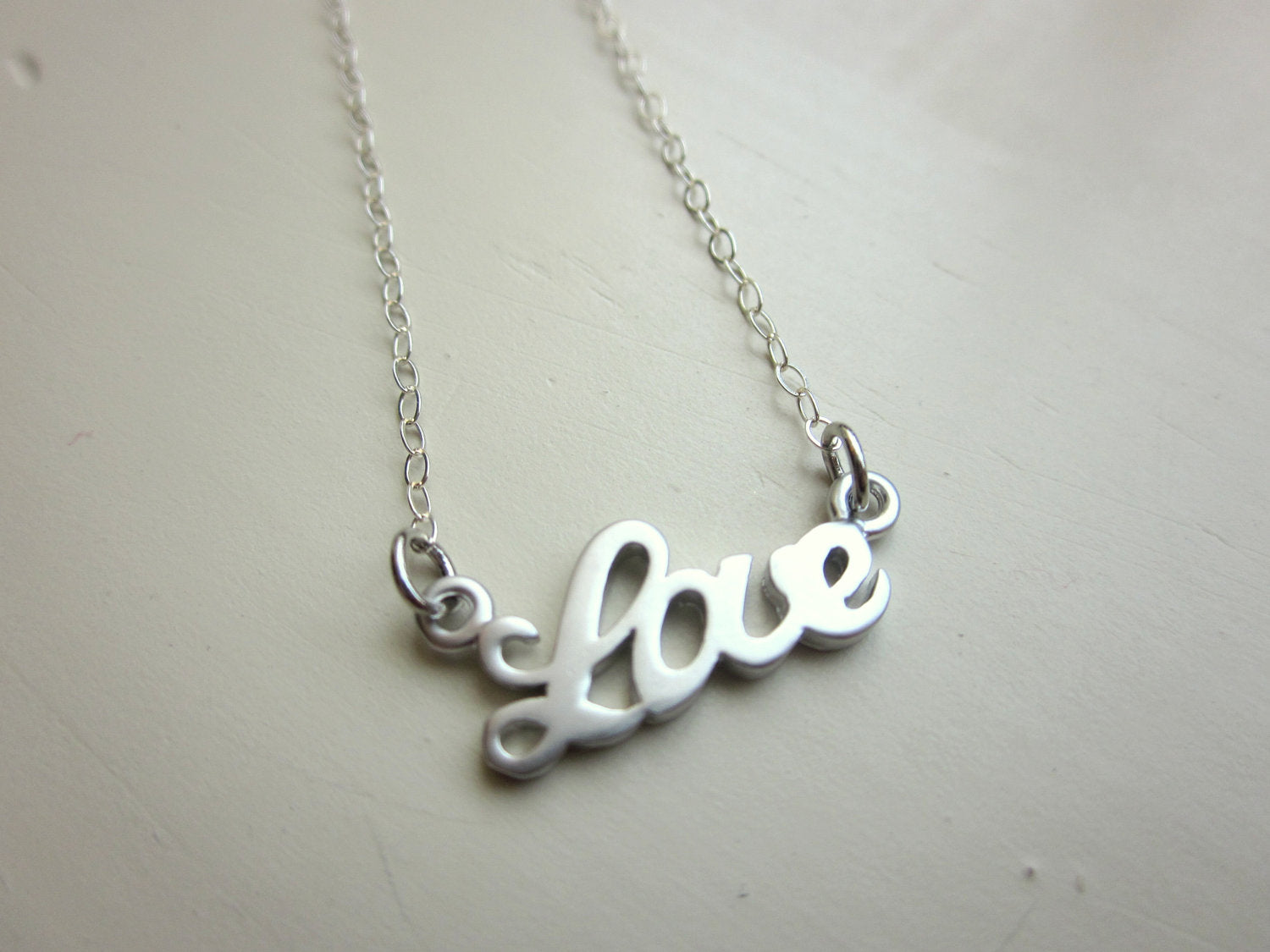 Silver Love Bracelet Charm - Sterling Silver Chain - Wedding Jewelry - Bridesmaid Jewelry - Valentines Day Gift - Gift Under 30