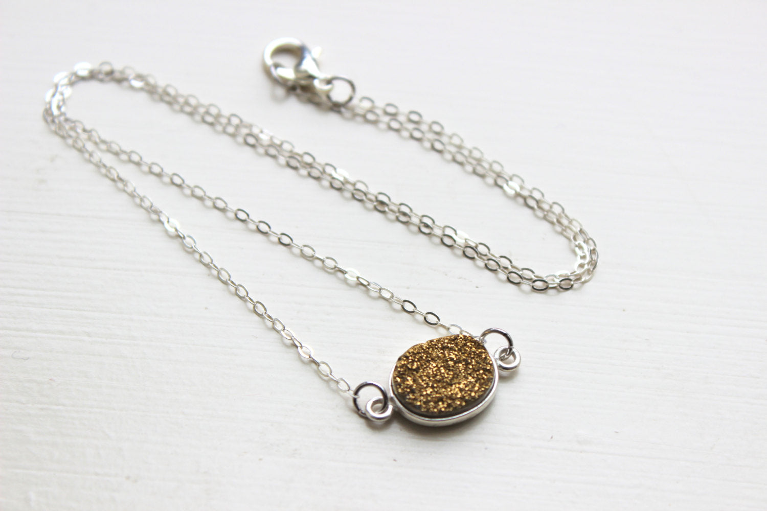 Silver Gold Druzy Necklace Natural Druzy Jewelry Gold Drusy Necklace Jewelry Druzy Christmas Gift Under 20 Necklace Silver Statement Jewelry