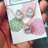 Crystal Teardrop Jewelry Set