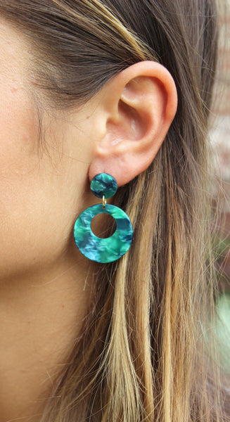Resin Stud Earrings, Acrylic Earrings, Resin Jewelry
