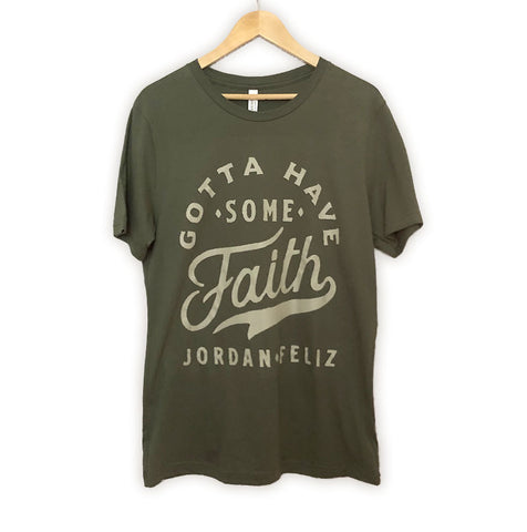 Faith Unisex Military Green Tee