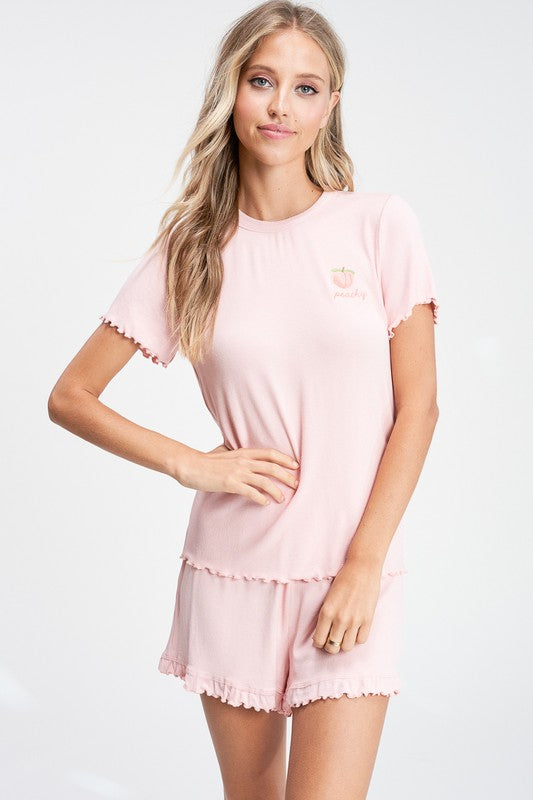 Peachy PJ Set - Peach