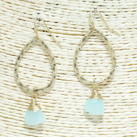 Teardrop Dangle Earrings - Mint