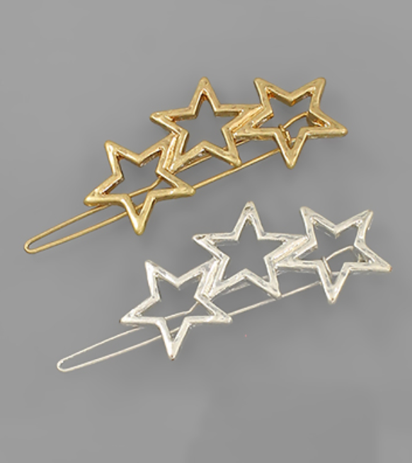 Triple Star Hair Pin