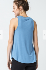 Sleeveless Swing Top - Sky Blue