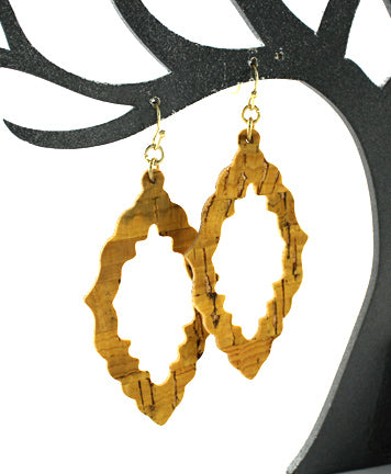 Sistine Cork Earrings - Natural