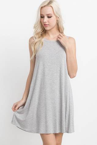 Heather Grey Shift Dress