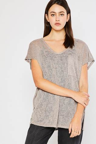Low Gauge Dolman Sleeve Sweater Top