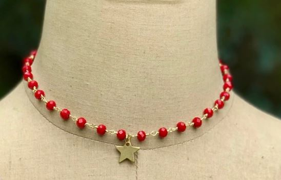 Red Star Choker by Inspire Designs