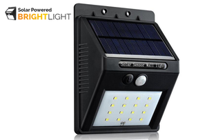 BRIGHTLIGHT Solar Powered Motion Detected Wall Light