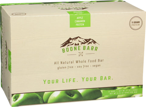 Case of Apple Cinnamon Protein Boone Barrs
