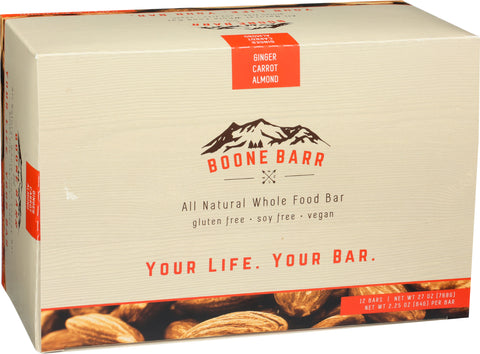 Case of Ginger Carrot Almond Boone Barrs