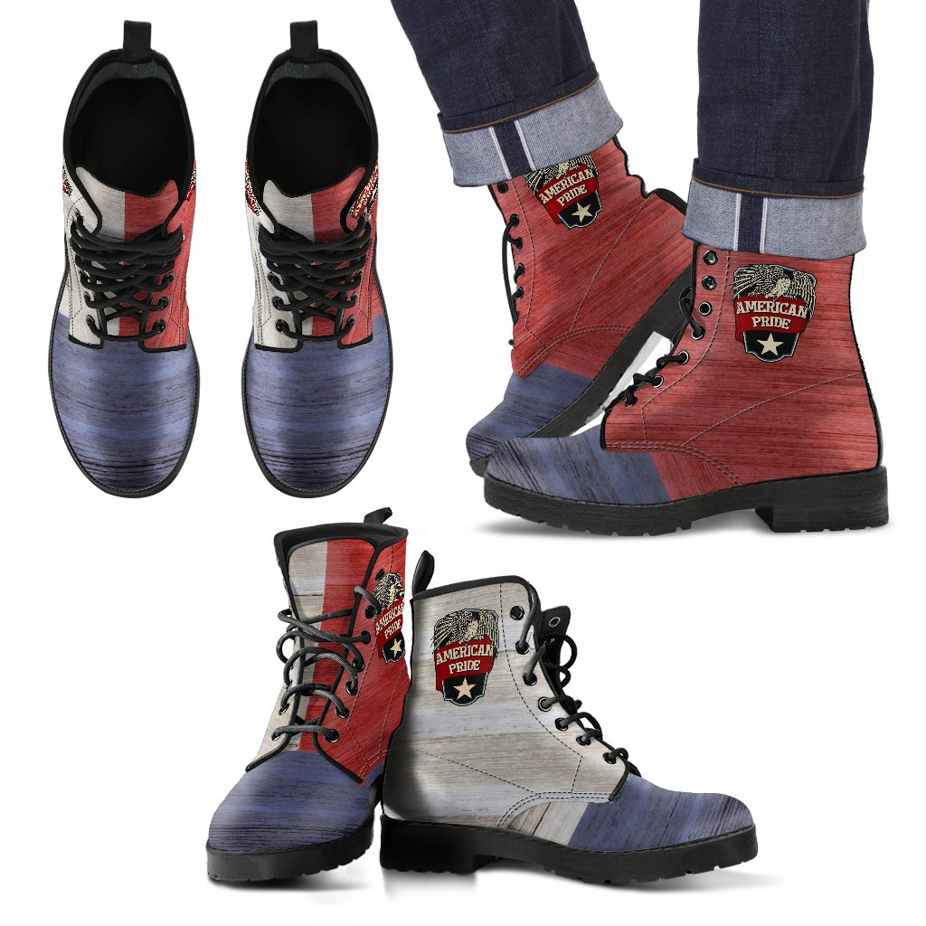American Pride Men's Leather Boots - Deal Sharks