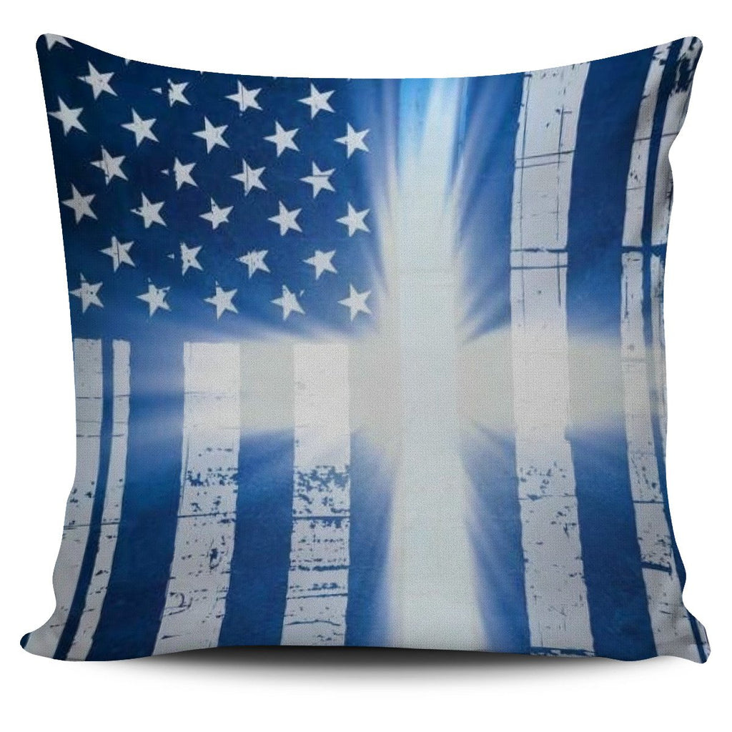 USA Flag Cross Pillow Cover - Deal Sharks