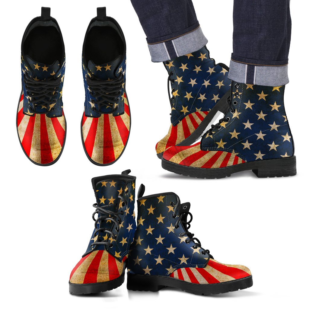 USA Men's Leather Boots - Deal Sharks