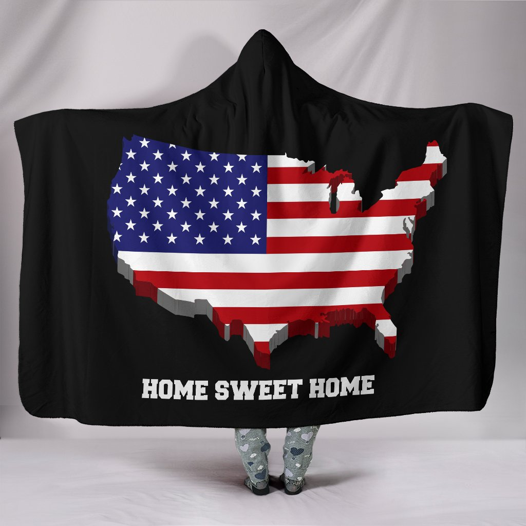 USA Home Sweet Home Hooded Blanket - Deal Sharks