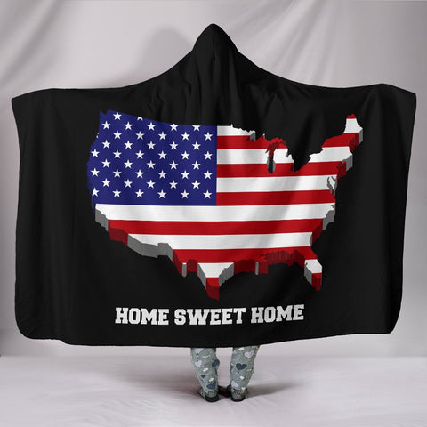 Image of USA Home Sweet Home Hooded Blanket - Deal Sharks