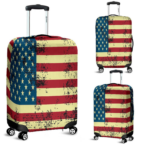 Image of NP American Flag Luggage Cover - Deal Sharks