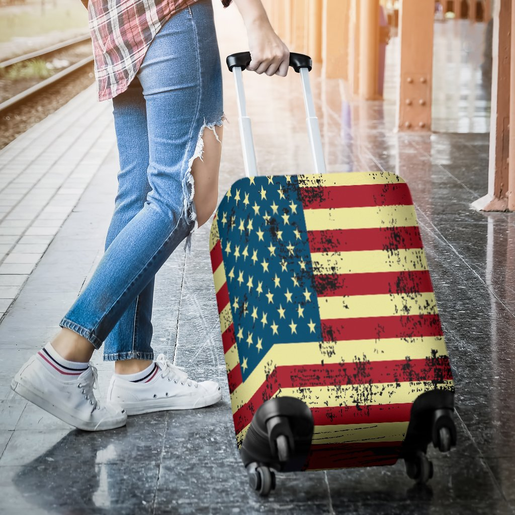 NP American Flag Luggage Cover - Deal Sharks