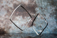 Textured Square Silver Bangle