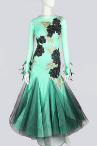 Mint and Black Tulle Standard Dress