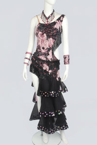 Black and Pink Latin Dress