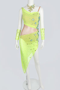 Lemon Net Latin Dress