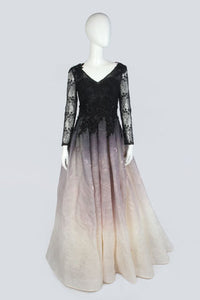 Black Gradation Evening Dress