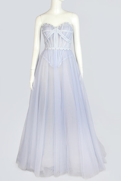 Blue-gray Evening Dress
