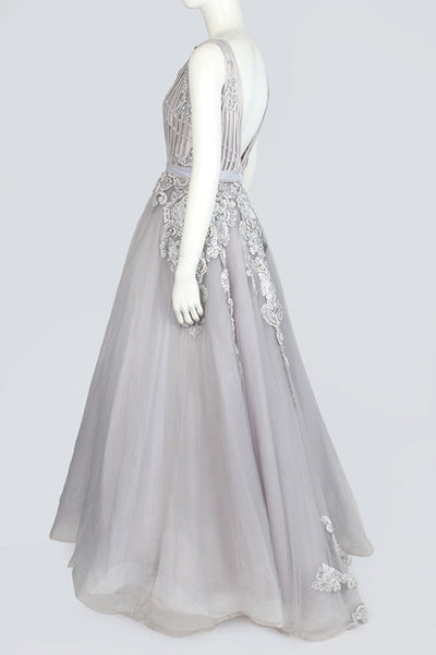 Gray Evening Dress