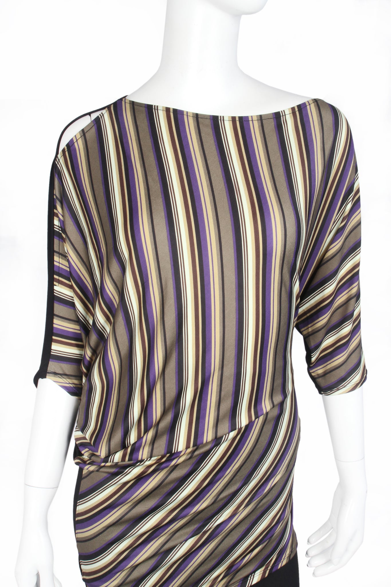 Dolman Sleeve Striped Top