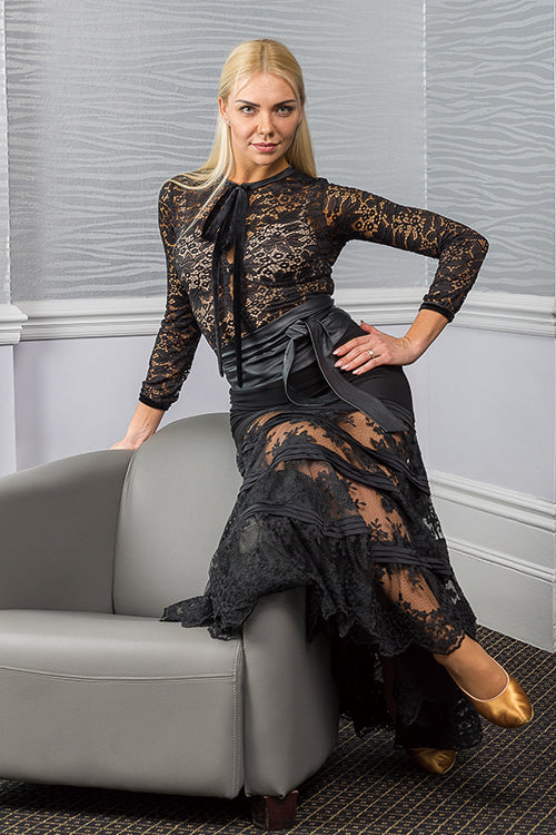 Modern Plated Lace Skirt
