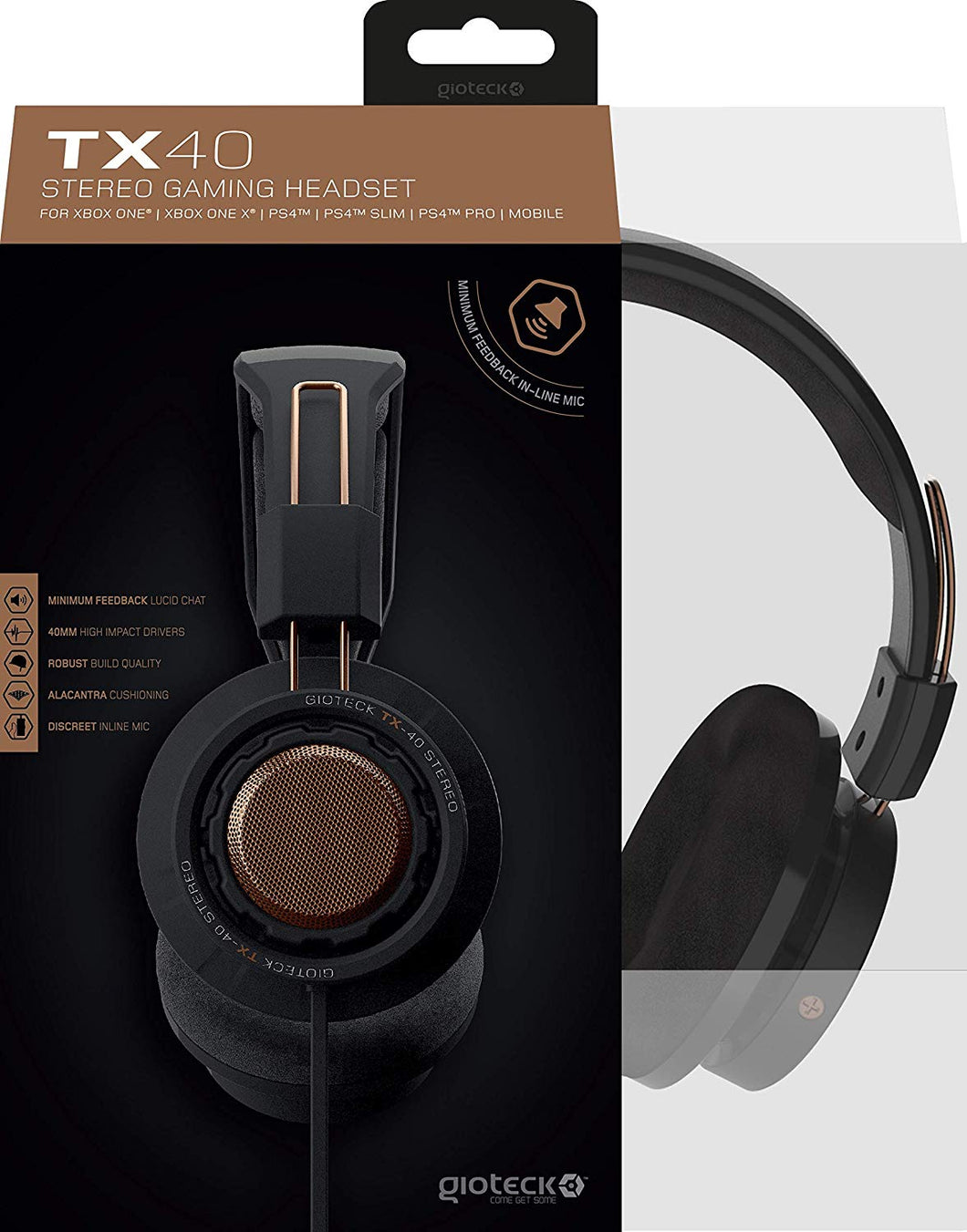Gioteck TX40 Stereo Gaming & Go Headset - Copper