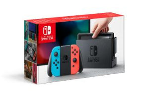 Nintendo Switch Console with Neon Red & Neon Blue Joy-Con