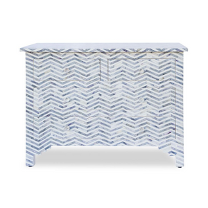 Bone Inlay Chest 4-Drawer Chevron - Blue