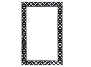 Bone Inlay Moroccan Rectangle Mirror
