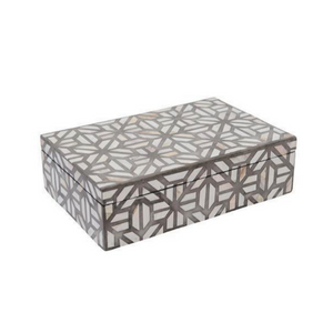 Bone Inlay Abstract Box - Grey