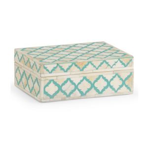 Bone Inlay Moroccan Box - Turquoise