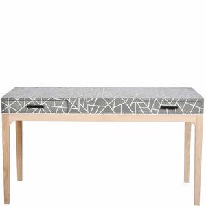Bone Inlay Console Table Triangle - Grey