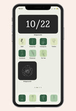 Home screen image of Give Me Green iOS iPhone Icon Pack
