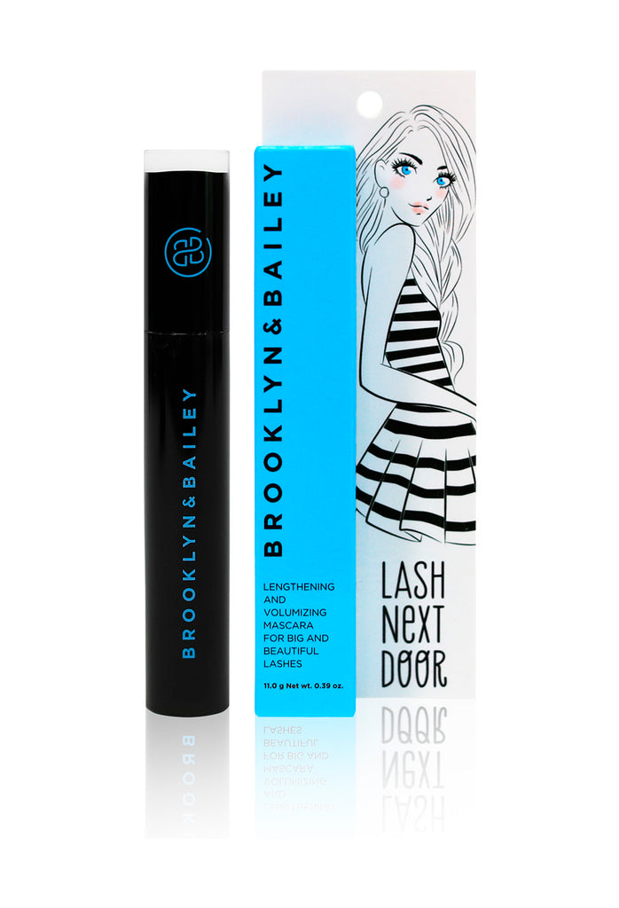 Mascara with light blue box