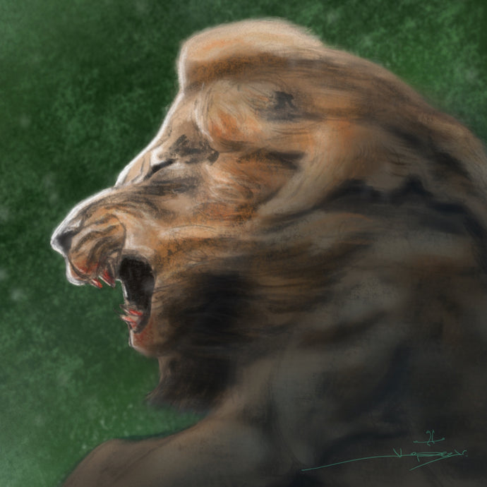 Procreate Speed Paint - Mr. T of The Mapogos Lions os Sabi