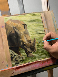 Rhino - Oil Painting Study