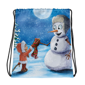 "Holiday Drawstring Bag ""It's Cold Outside"" by Jose Lopez Jr."